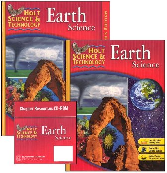Holt Science & Technology Earth Science Homeschool Package