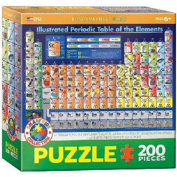 Illustrated Periodic Table of the Elements Puzzle - 200 Pieces