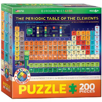 Periodic Table of the Elements Puzzle - 200 Pieces