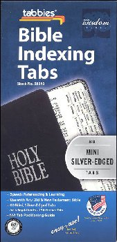 Mini Bible Tabs, Silver