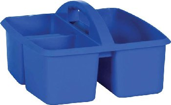 Blue Plastic Storage Caddies