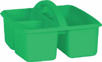 Green Plastic Storage Caddies