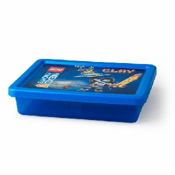 Nexo Knights Storage Box Small with Lid - Transparent Blue