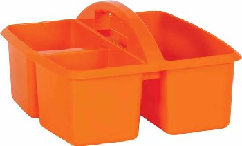 Orange Plastic Storage Caddies