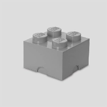 LEGO Storage Brick 4 - Medium Stone Gray