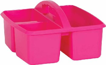 Pink Plastic Storage Caddies