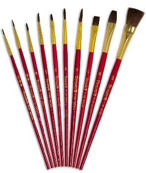 Hobby & Craft Asst. Dynasty Brushes (Set #9)