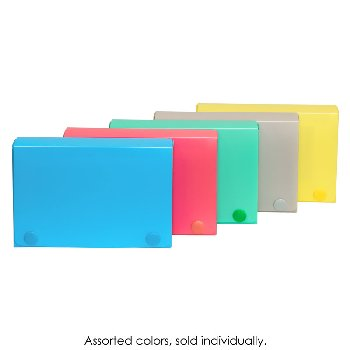 Poly Index Card Case for 3 x 5 Cards - Assorted Colors