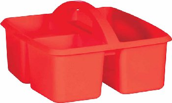 Red Plastic Storage Caddies