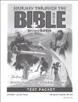 Journey Through the Bible Book 1: Pentateuch & Historical Books Tests (2nd edition)