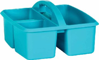 Teal Plastic Storage Caddies
