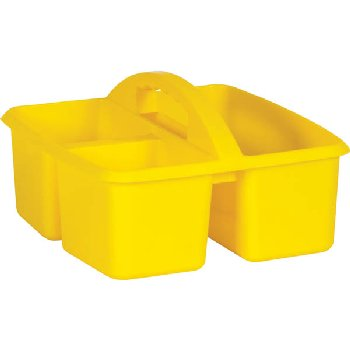 Yellow Plastic Storage Caddies