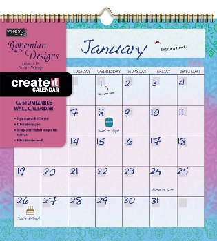 Bohemian Create-it Wall Calendar