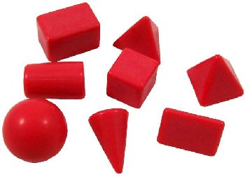Small Geometric Solids (Set of 8)