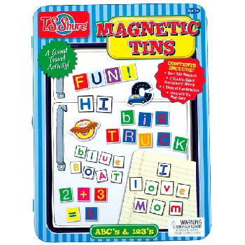 Alphabet & Numbers Magnetic Tin Playset