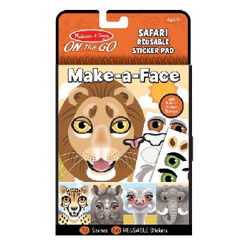Make-a-Face Reusable Sticker Pad - Safari