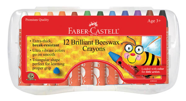 Brilliant Beeswax Crayons - 12 Count