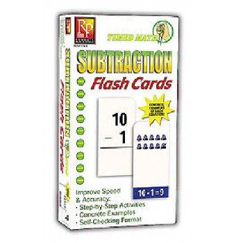 Timed Math Flash Cards - Subtraction