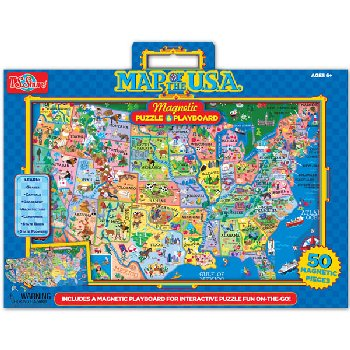 United States of America Magnetic Playboard Puzzle