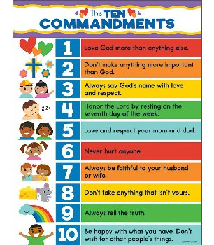 "Ten Commandments for Kids Chart (17"" x 22"")"