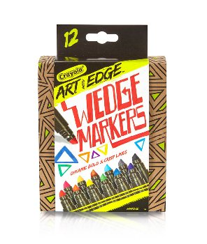 Crayola Art With Edge Broad Line Wedge Markers - 12 count