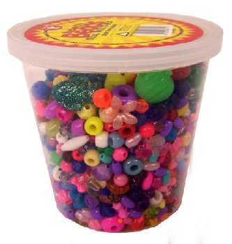 Bucket O' Beads Multi-Mix with Elastic Thread 12 oz.