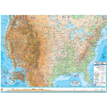 U.S. Advanced Physical Laminated Rolled Map