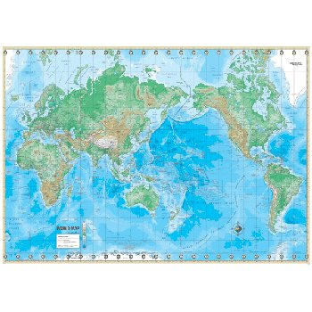 World Advanced Physical Paper Rolled Map