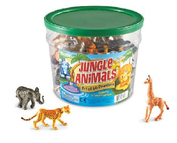 Jungle Animal Counters Set of 60