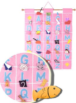 ABC Felt Wall Hangings - Pink