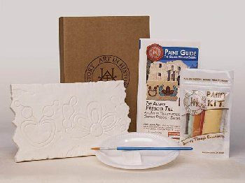 Mission of San Antonio De Valero - Alamo Fresco Tiles (Hands on History Pottery Kit)