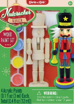 Mini Nutcracker Bugler Wood Painting Kit