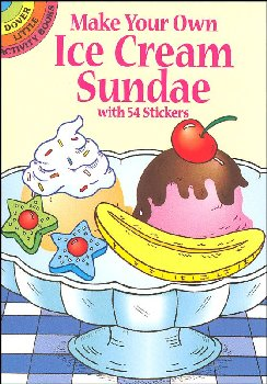 Make Your Own Ice Cream Sundae Sticker Activity Book