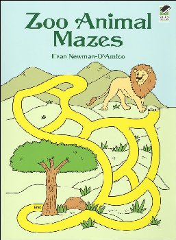Zoo Animal Mazes Coloring Book