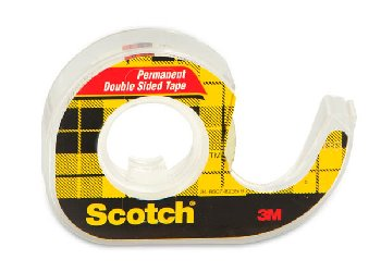 "Scotch Double Sided Tape in Dispenser, .5"" x 250"""