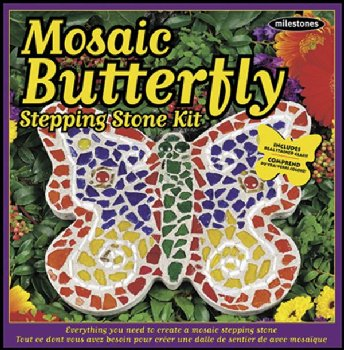 Mosaic Butterfly Stepping Stone Kit