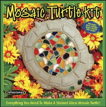 Mosaic Turtle Stepping Stone Kit