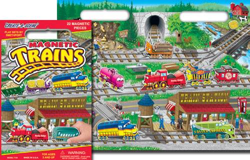 Trains Magnetic Playset