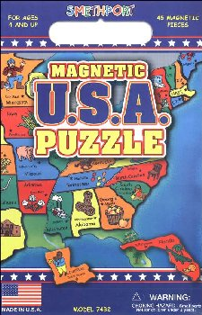 USA Magnetic Puzzle Playset