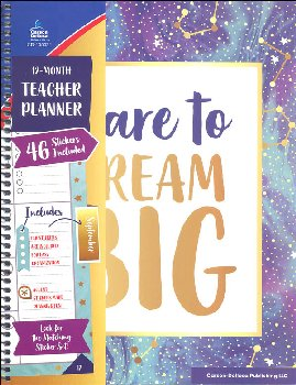 Galaxy Dare to Dream Big Teacher Planner
