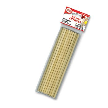 "Wooden 1/4"" Dowels (15 pieces)"