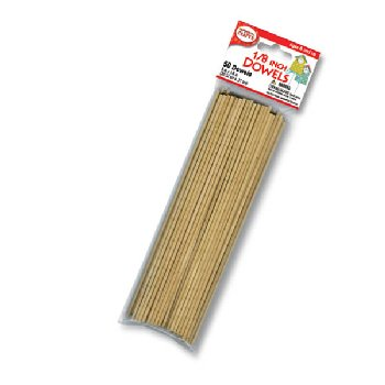 "Wooden 1/8"" Dowels (50 pieces)"
