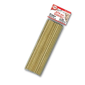 "Wooden 3/16"" Dowels (25 pieces)"
