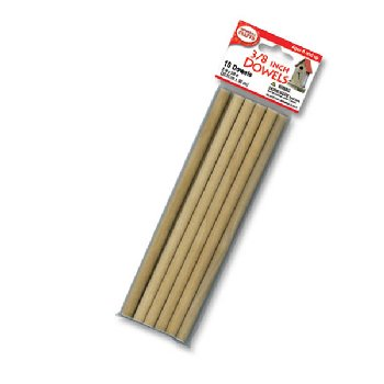 "Wooden 3/8"" Dowels (10 pieces)"