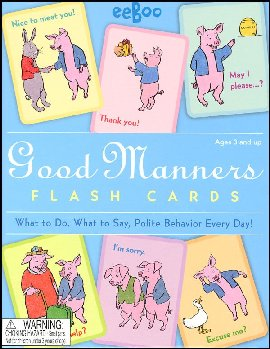 Good Manners Flash Cards