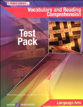 Vocabulary and Reading Comprehension Test Pack and Answer Key