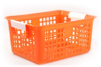 Book Basket - Orange
