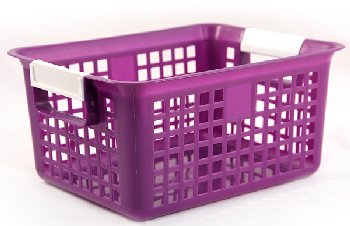 Book Basket - Purple