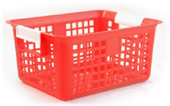 Book Basket - Red