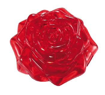 3D Crystal Puzzle - Red Rose (Level 2)